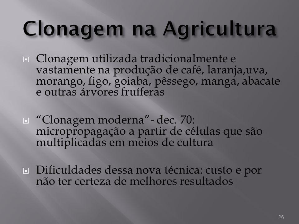Clonagem na Agricultura