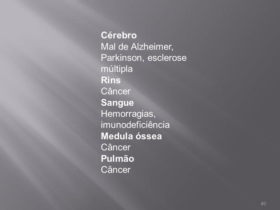 Cérebro Mal de Alzheimer, Parkinson, esclerose múltipla