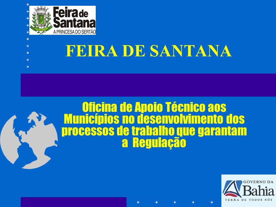 FEIRA DE SANTANA Oficina de Apoio Técnico aos Municípios no desenvolvimento dos processos de trabalho que garantam a Regulação.