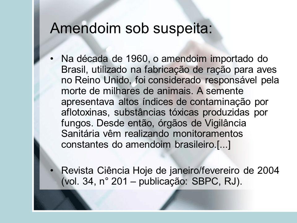Amendoim sob suspeita: