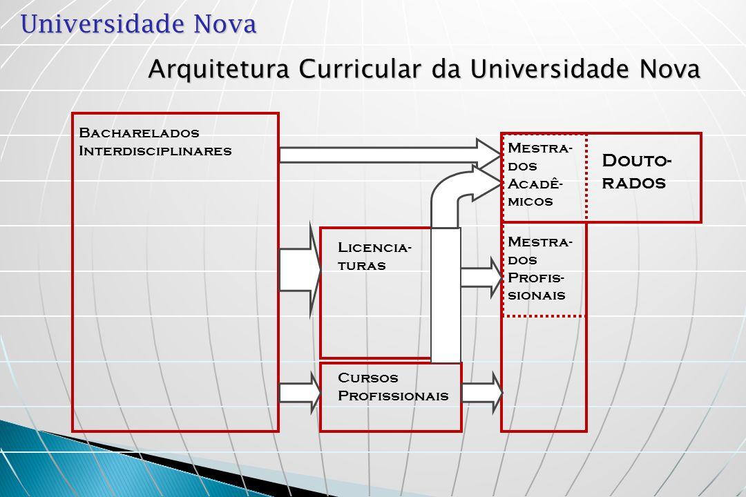 Arquitetura Curricular da Universidade Nova