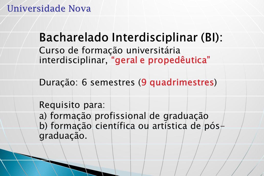 Bacharelado Interdisciplinar (BI):