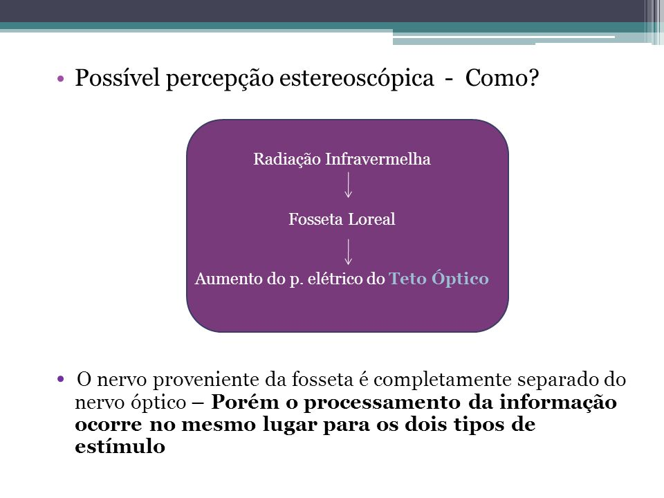Possível percepção estereoscópica - Como