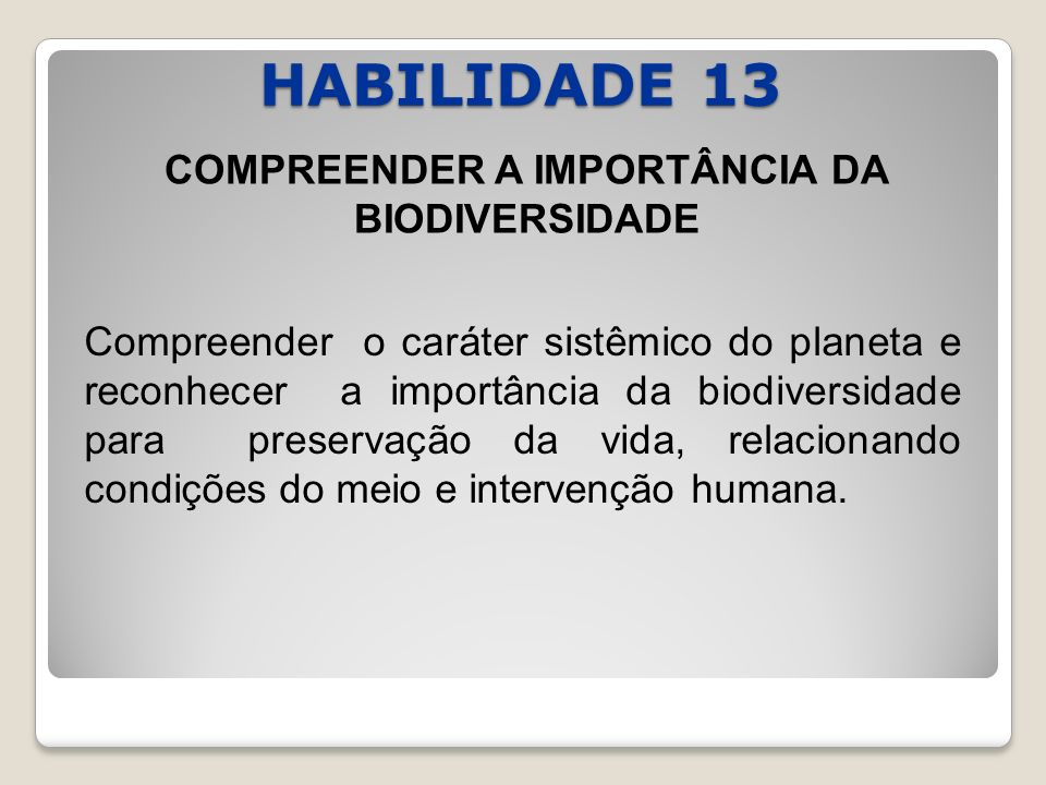 COMPREENDER A IMPORTÂNCIA DA BIODIVERSIDADE