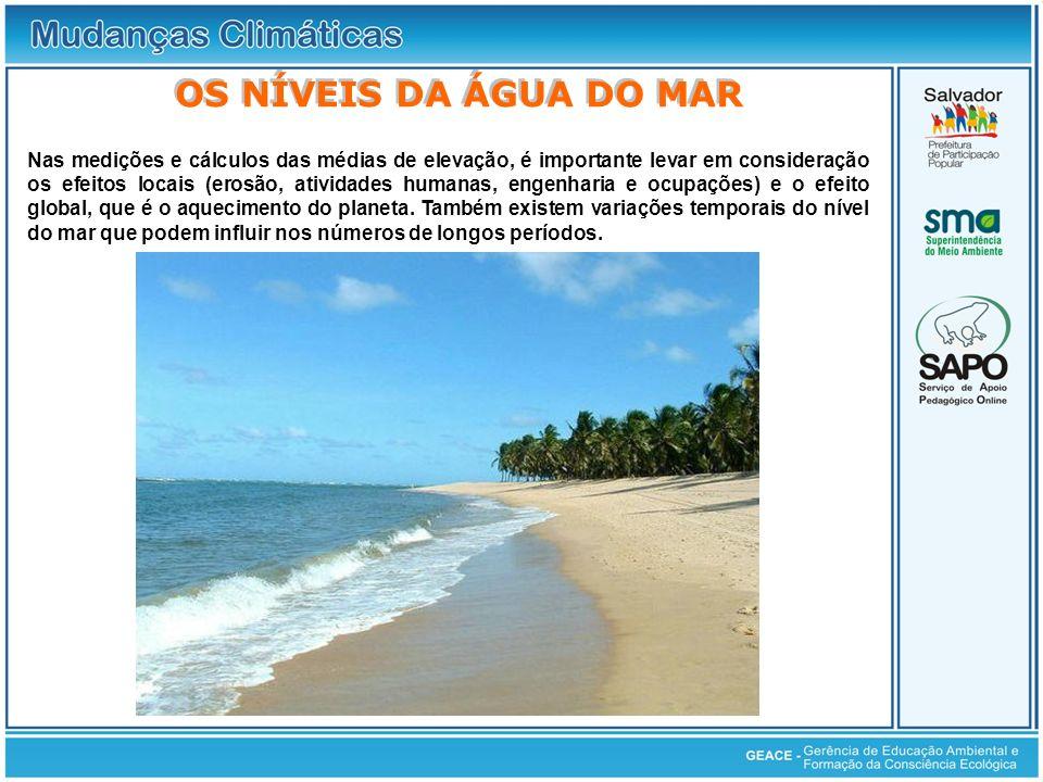 Os Níveis da Água do Mar OS NÍVEIS DA ÁGUA DO MAR