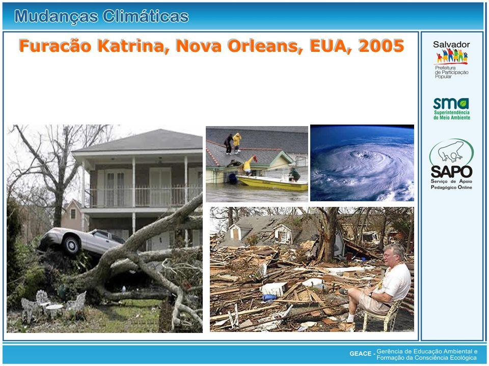 Furacão Katrina, Nova Orleans, EUA, 2005