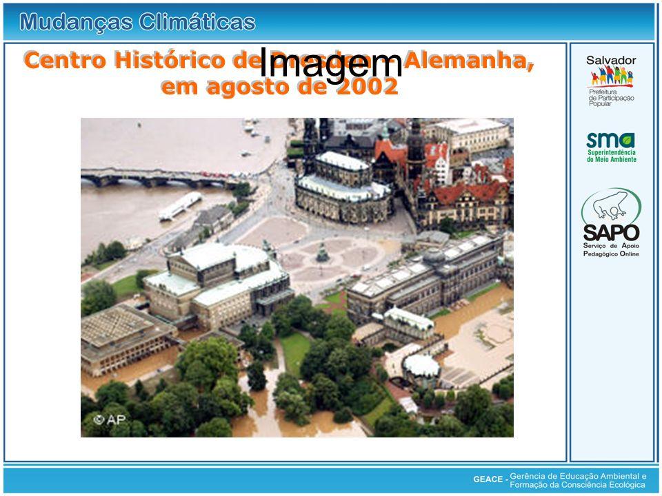 Centro Histórico de Dresden – Alemanha, em agosto de 2002