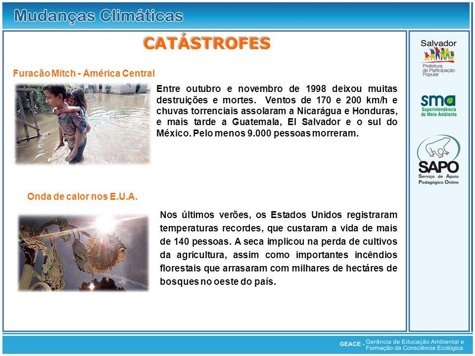 Catástrofes CATÁSTROFES Furacão Mitch - América Central