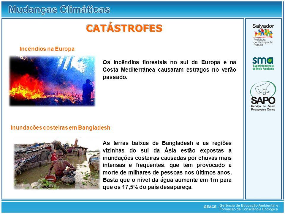 Catástrofes CATÁSTROFES Incêndios na Europa