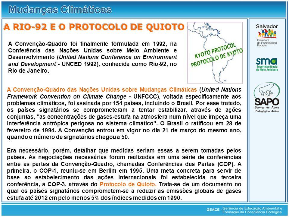 A Rio-92 e o Protocolo de Quioto