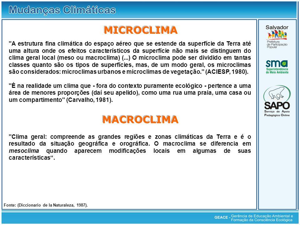 Microclima e Macroclima