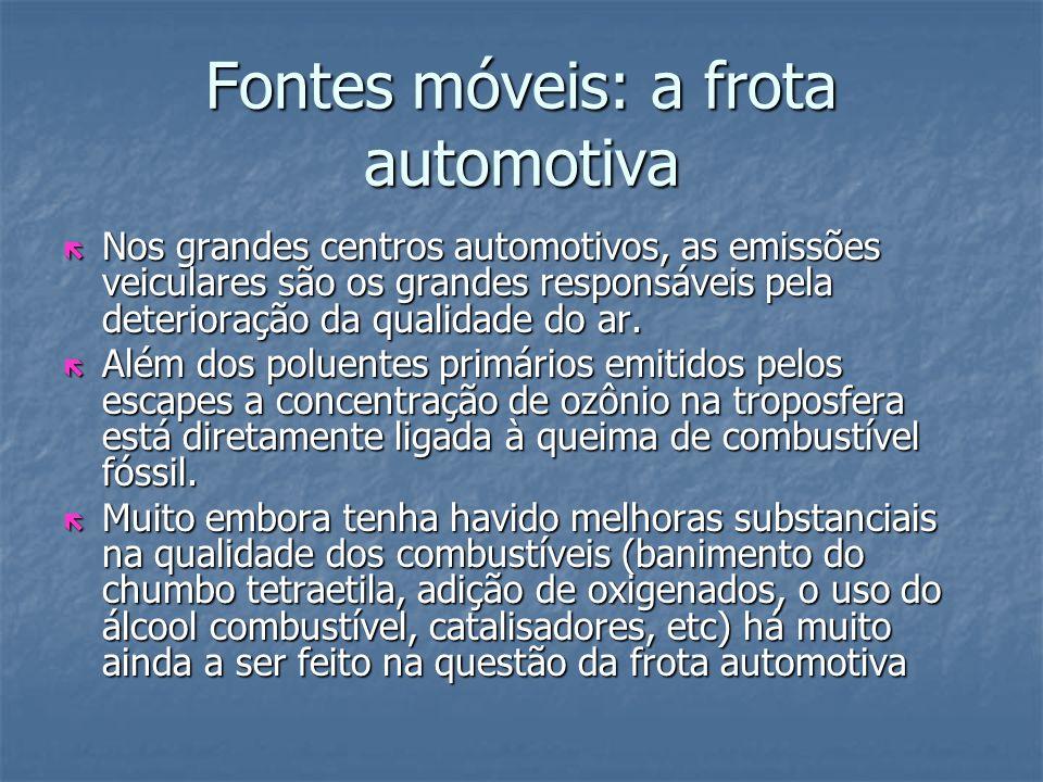Fontes móveis: a frota automotiva