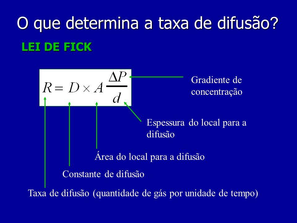 O que determina a taxa de difusão