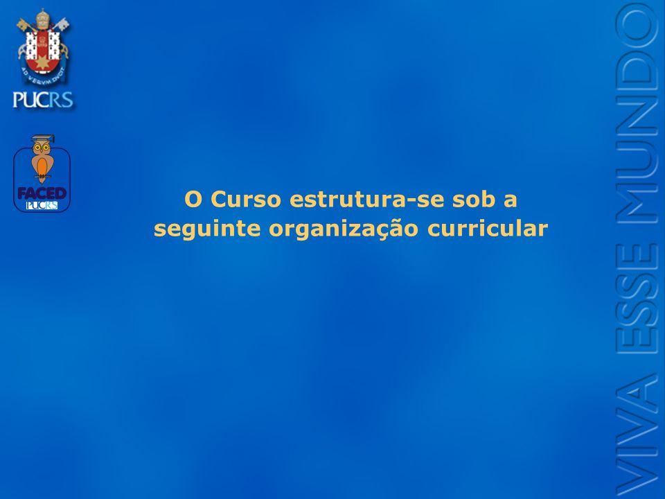 O Curso estrutura-se sob a seguinte organização curricular