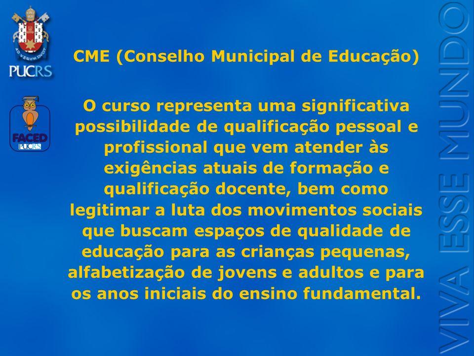 CME (Conselho Municipal de Educação)