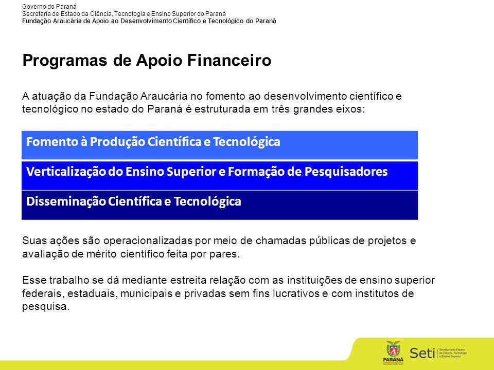 Programas de Apoio Financeiro