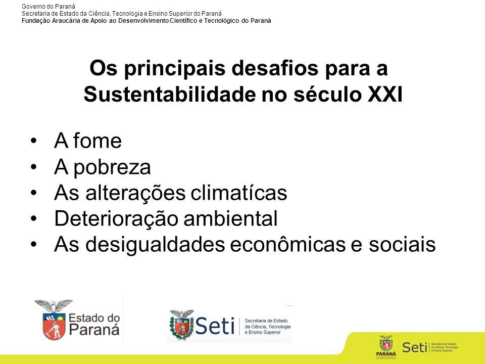 Os principais desafios para a Sustentabilidade no século XXI