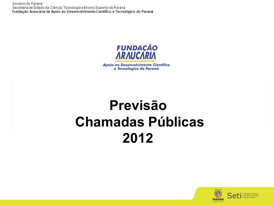 Previsão Chamadas Públicas 2012