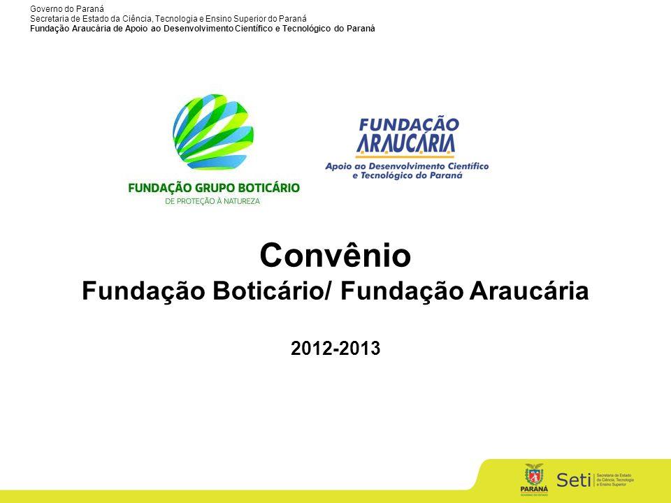 Fundação Boticário/ Fundação Araucária