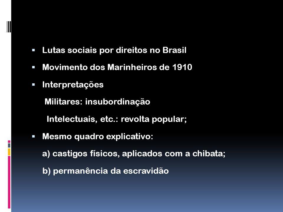 Lutas sociais por direitos no Brasil