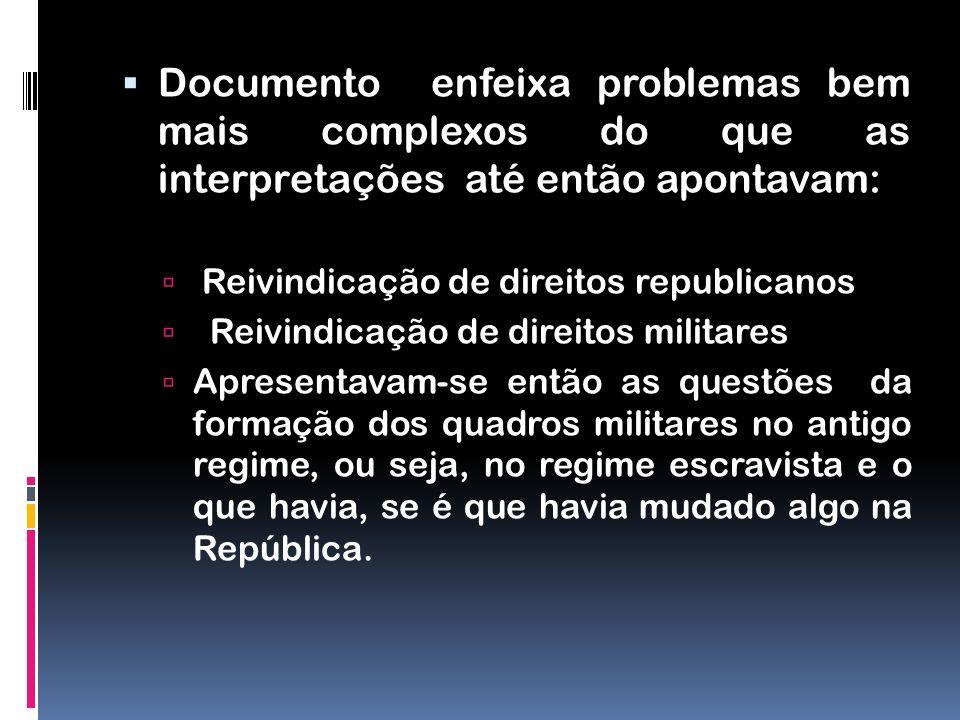 Documento enfeixa problemas bem mais complexos do que as interpretações até então apontavam: