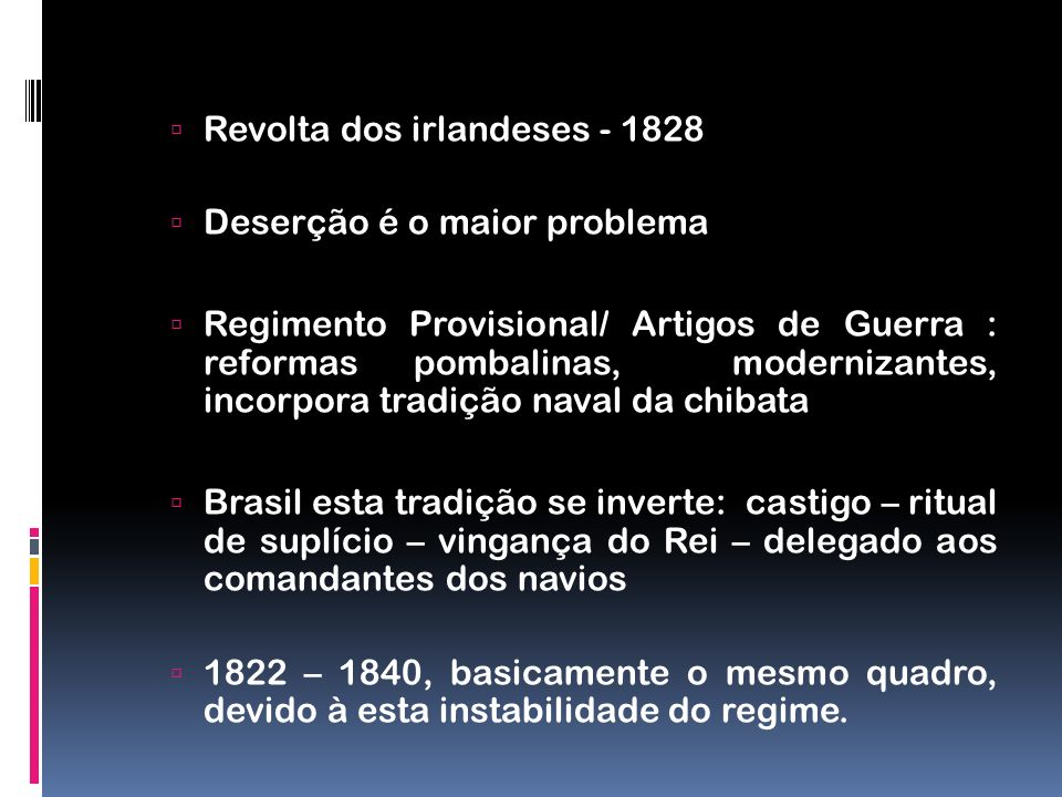 Revolta dos irlandeses - 1828