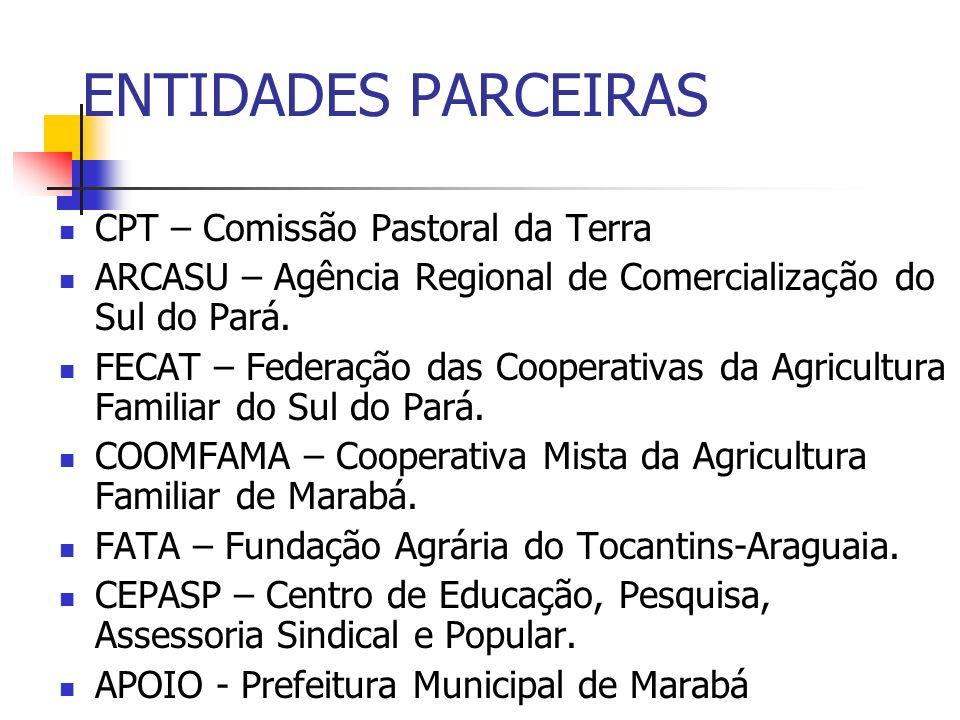 ENTIDADES PARCEIRAS CPT – Comissão Pastoral da Terra