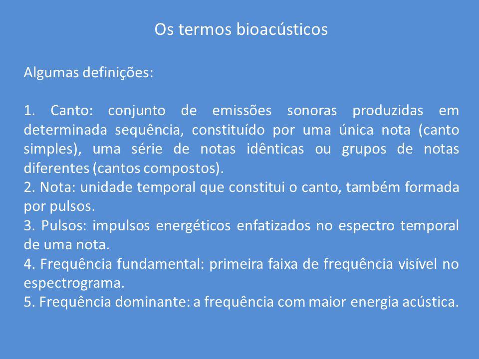 Os termos bioacústicos