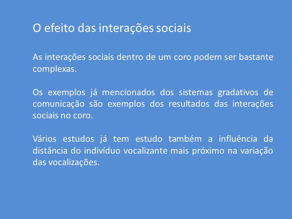 O efeito das interações sociais