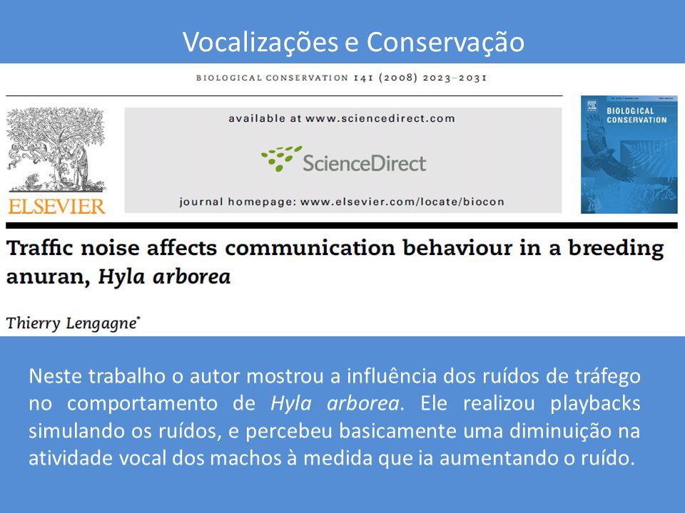 Vocalizações e Conservação