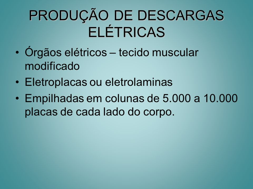 PRODUÇÃO DE DESCARGAS ELÉTRICAS