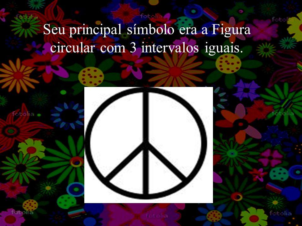 Seu principal símbolo era a Figura circular com 3 intervalos iguais.