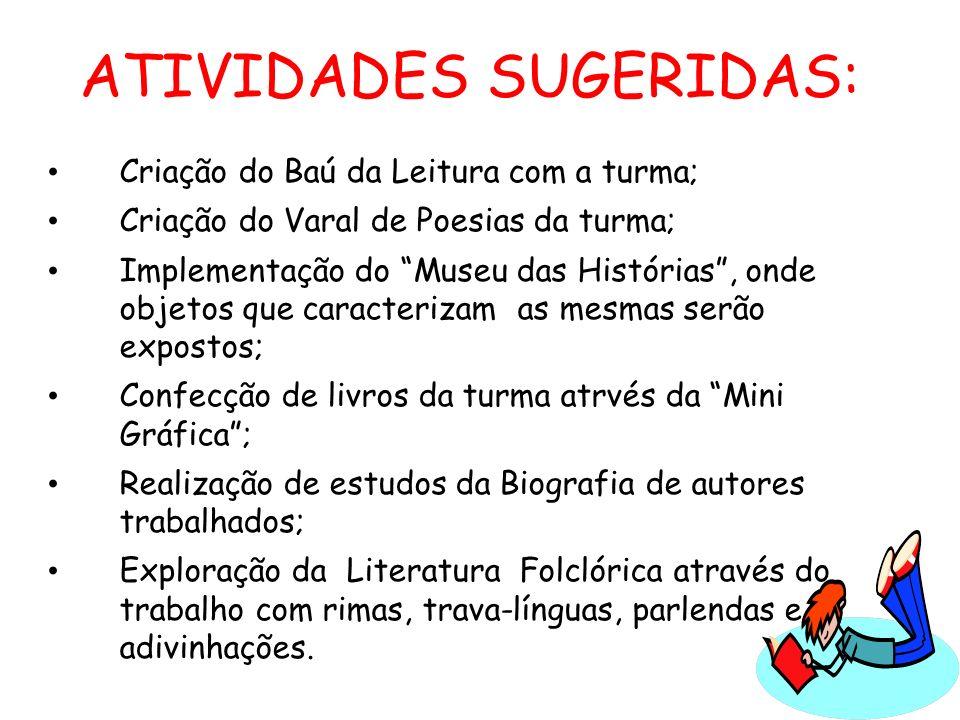ATIVIDADES SUGERIDAS: