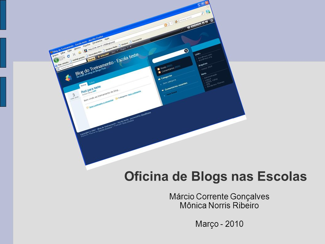 Oficina de Blogs nas Escolas