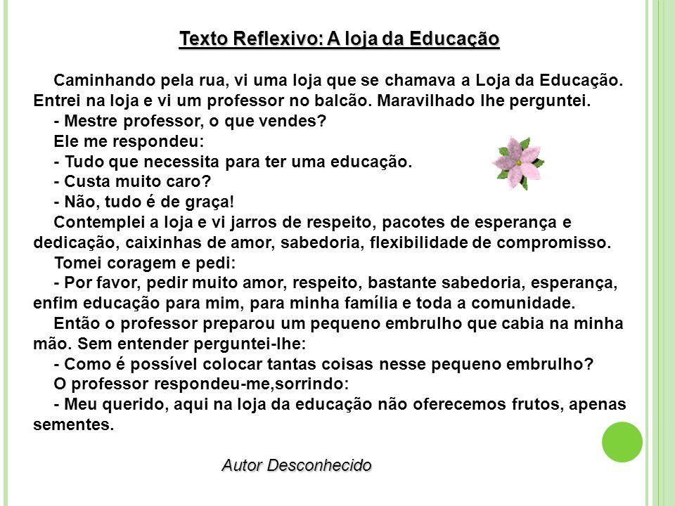 Texto Reflexivo: A loja da Educação