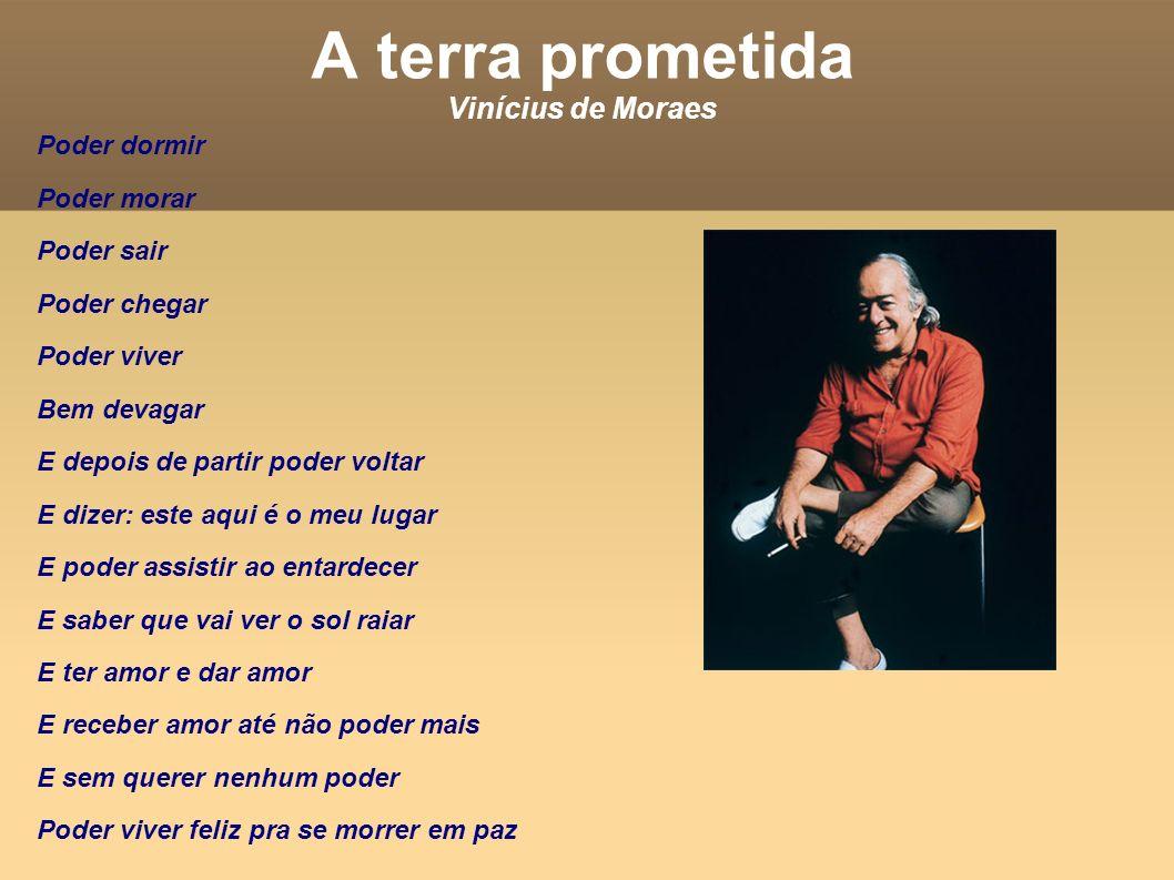 A terra prometida Vinícius de Moraes