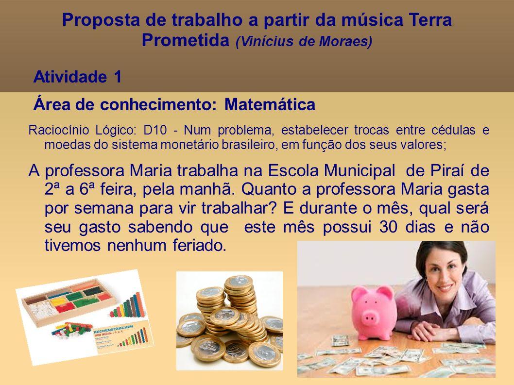 Proposta de trabalho a partir da música Terra Prometida (Vinícius de Moraes)
