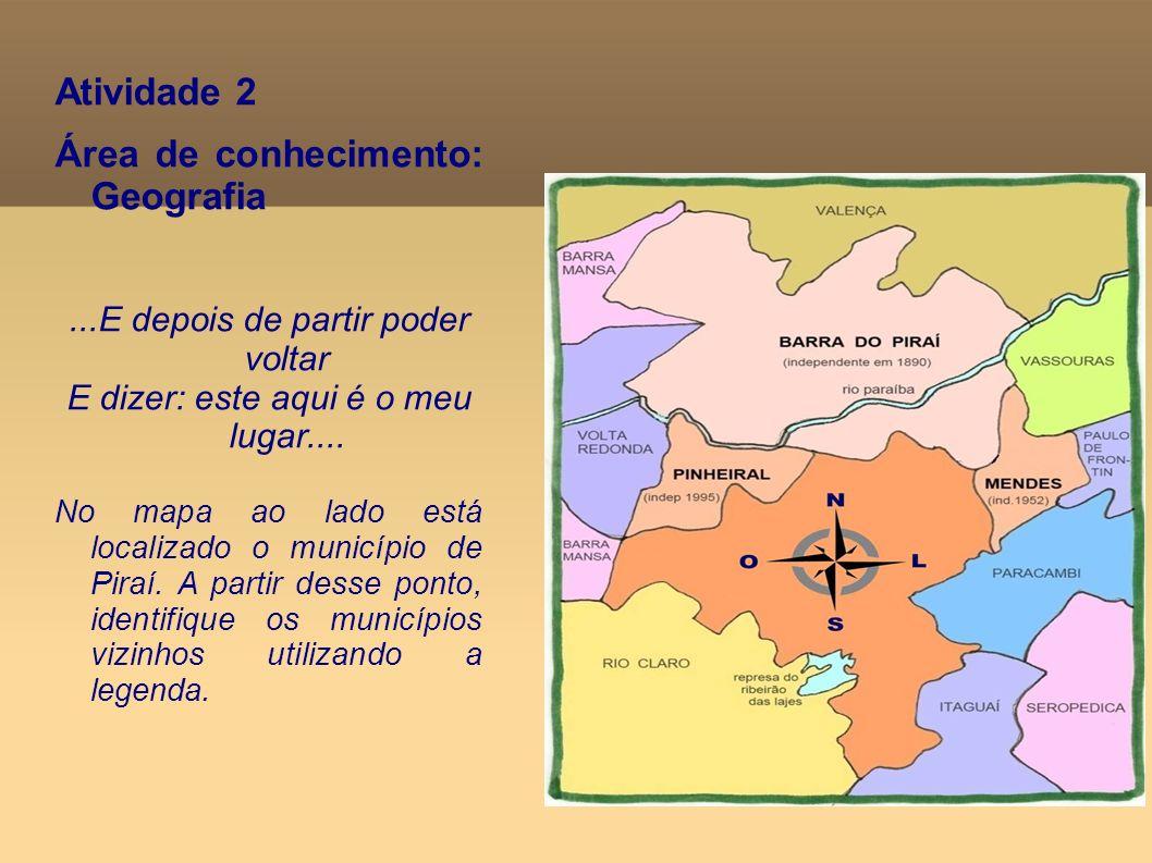 Área de conhecimento: Geografia