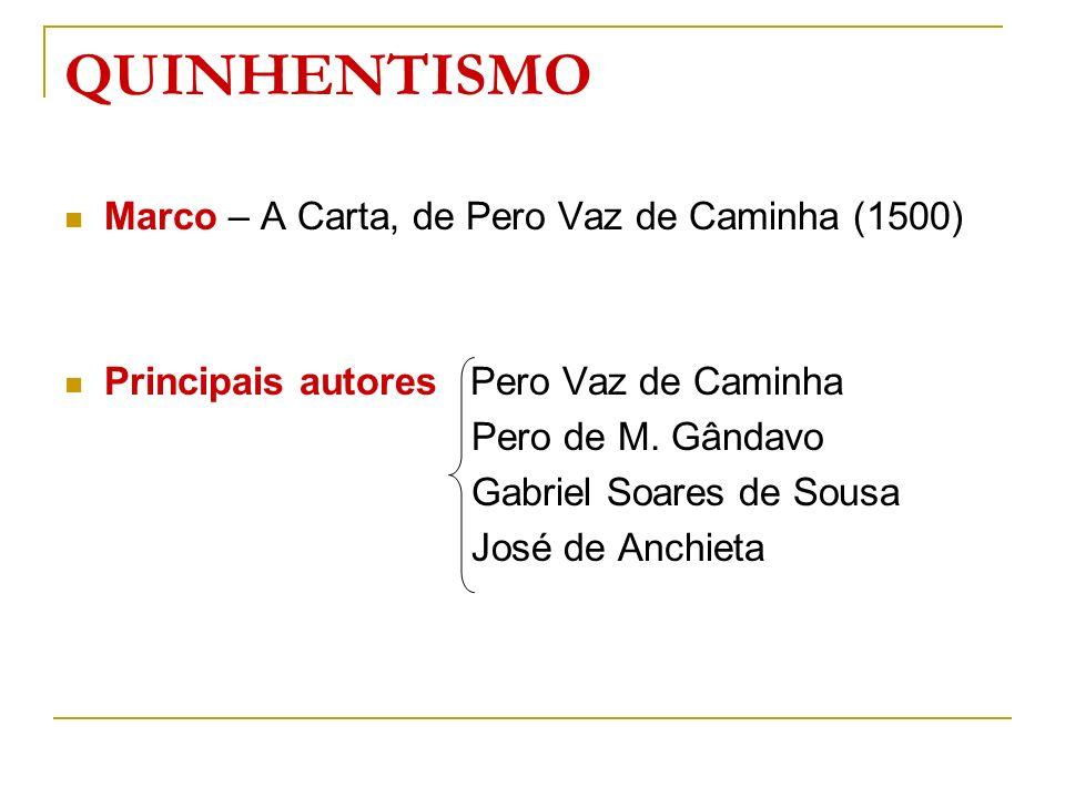 QUINHENTISMO Marco – A Carta, de Pero Vaz de Caminha (1500)