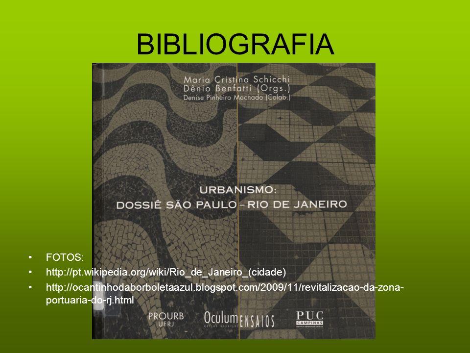 BIBLIOGRAFIA FOTOS: http://pt.wikipedia.org/wiki/Rio_de_Janeiro_(cidade)
