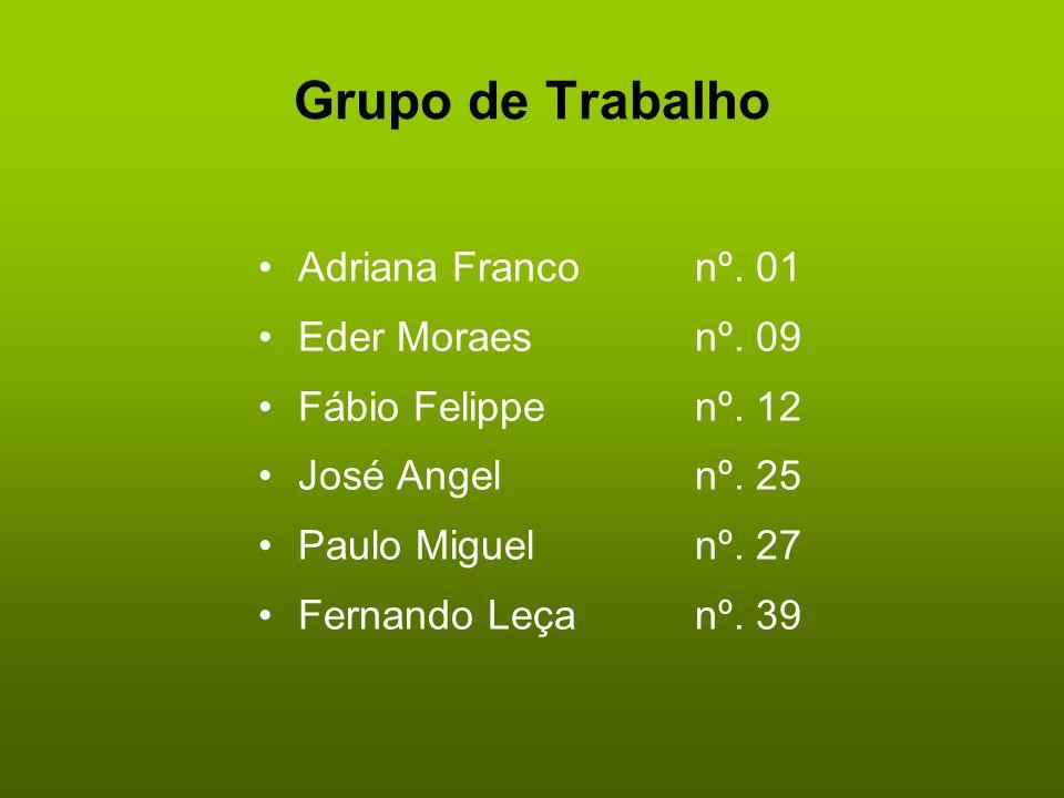 Grupo de Trabalho Adriana Franco nº. 01 Eder Moraes nº. 09