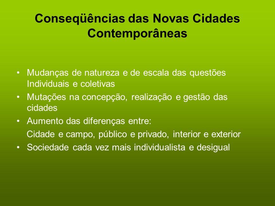 Conseqüências das Novas Cidades Contemporâneas
