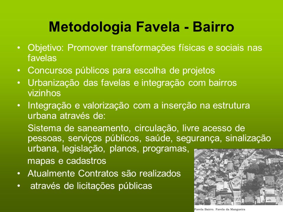Metodologia Favela - Bairro