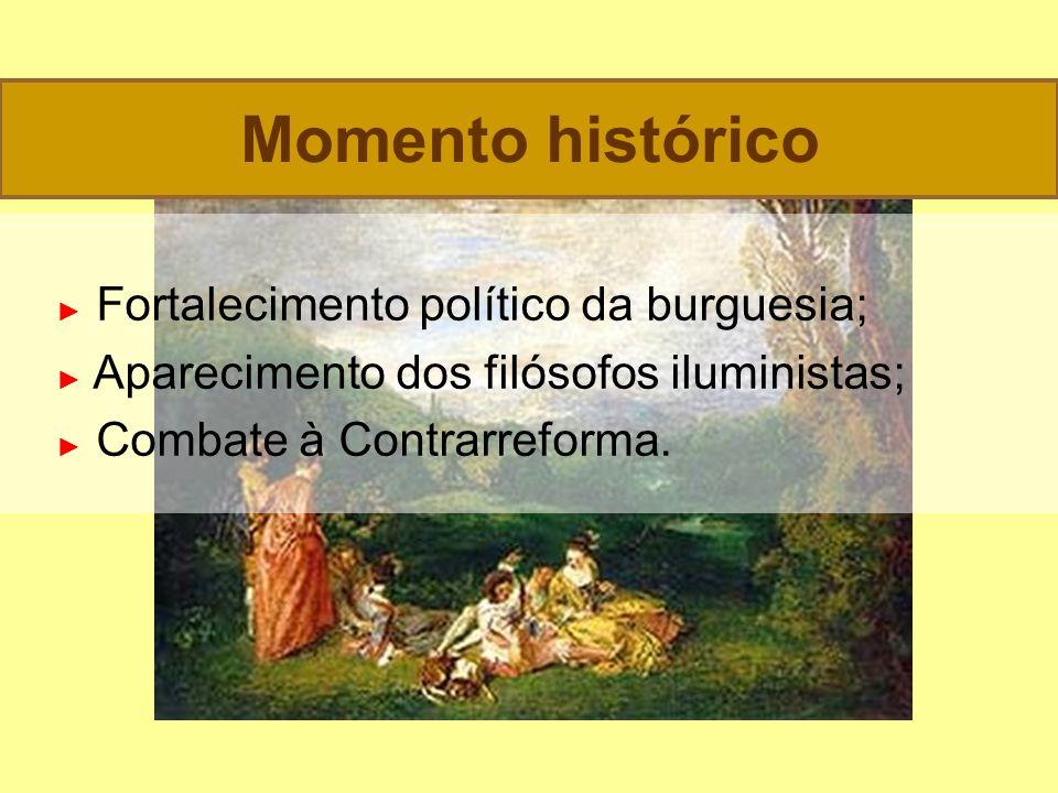 Momento histórico ► Fortalecimento político da burguesia;