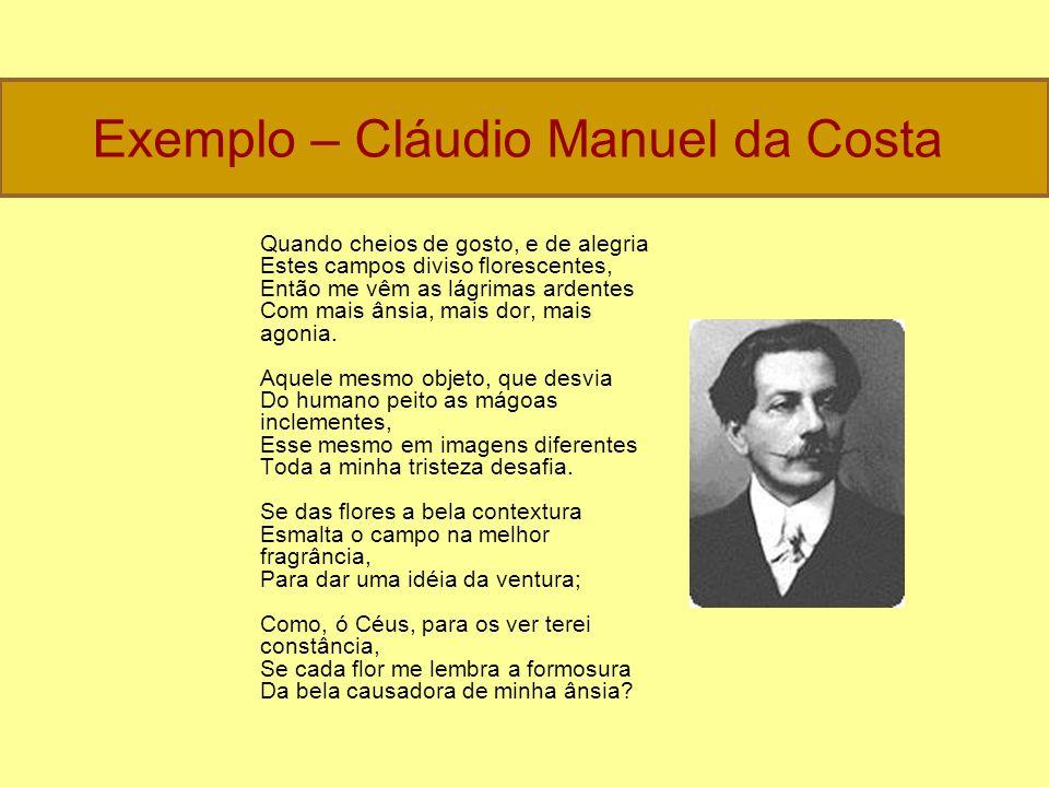Exemplo – Cláudio Manuel da Costa