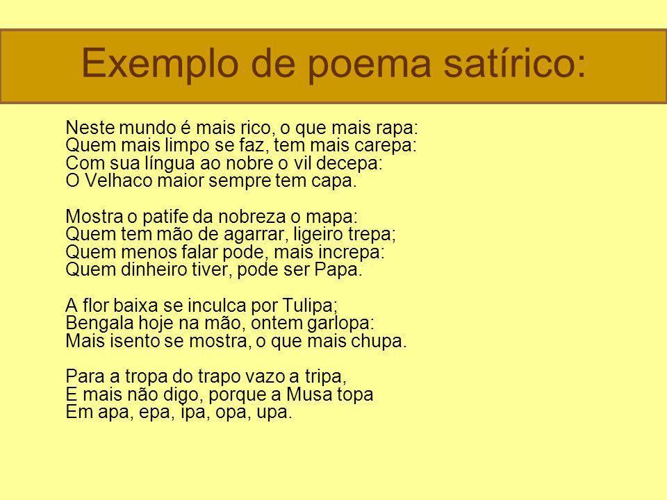 Exemplo de poema satírico: