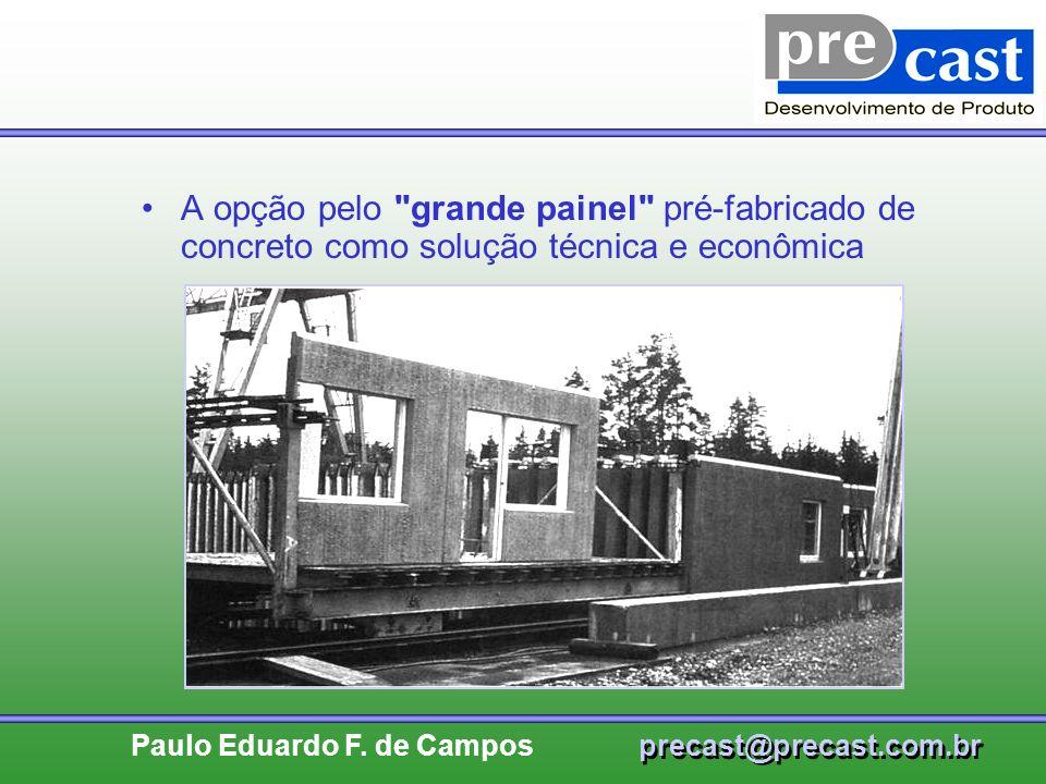 A opção pelo grande painel pré-fabricado de concreto como solução técnica e econômica