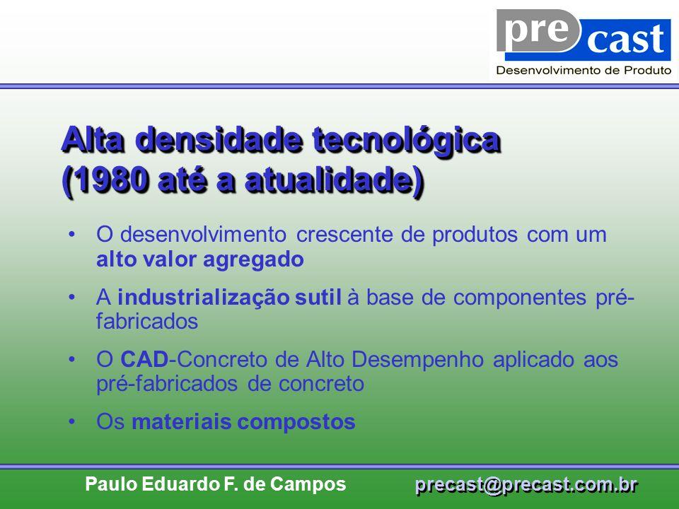 Alta densidade tecnológica (1980 até a atualidade)
