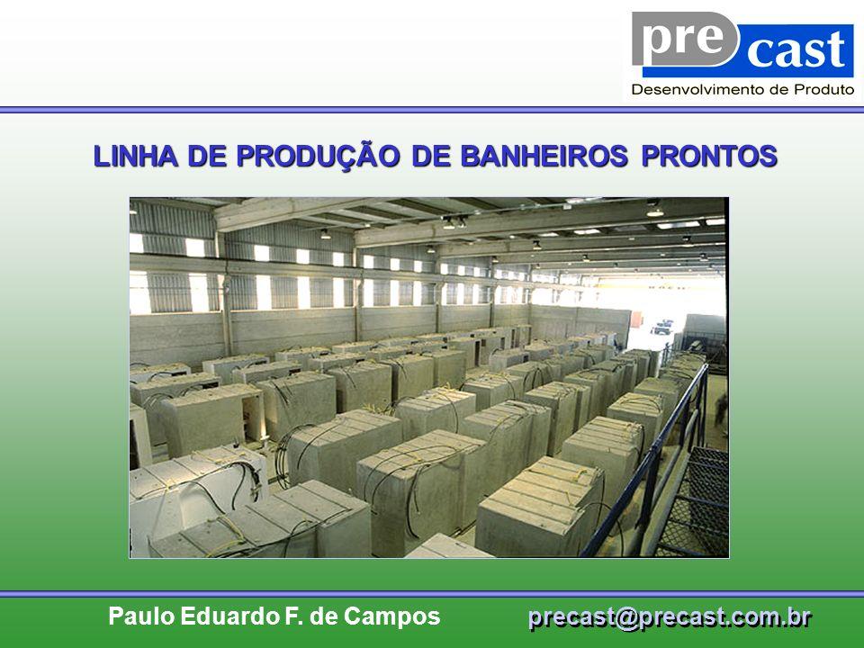 LINHA DE PRODUÇÃO DE BANHEIROS PRONTOS