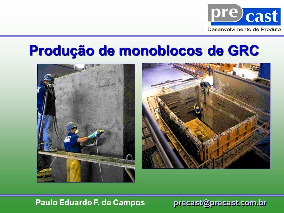 Produção de monoblocos de GRC